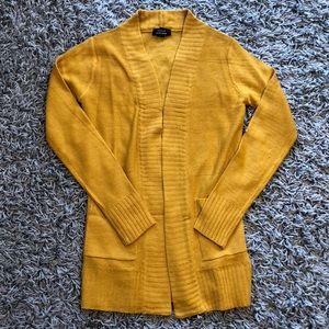 Mustard long cardigan
